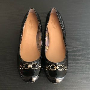 Coach patent leather flats